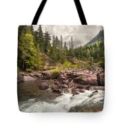 Glacier Waterfall Tote Bag