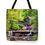Glade Creek Grist Mill 3 - Paint Tote Bag