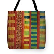 Glamorous Beach Cabins Under Squared Sky Tote Bag