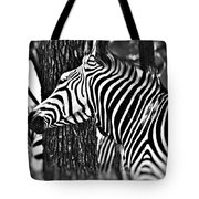 Glamorous In Black And White Tote Bag