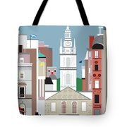 Glasgow Scotland Vertical Scene Tote Bag
