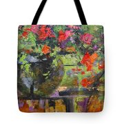 Glass And Flowers Tote Bag