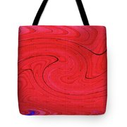 Glass And Steel Building Red Abstract Tote Bag