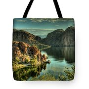 Glass Lake Tote Bag