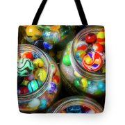 Glass Marbles In Containers Tote Bag