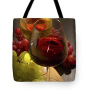 Red And White Wine Tote Bag