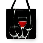 Glass Of Wine In Glass Tote Bag
