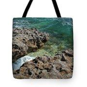 Glass Wave Blowing Rocks Preserve Jupiter Island Florida Tote Bag