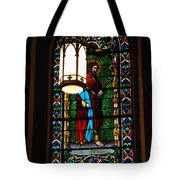 Glass Window Of Saint Philip In The Basilica In Santa Fe  Tote Bag