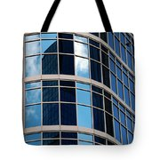 Glass Window Reflection Tote Bag