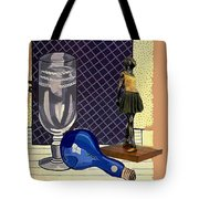 Glass With Ballerina Tote Bag