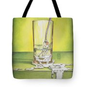 Glass With Melting Fork Tote Bag