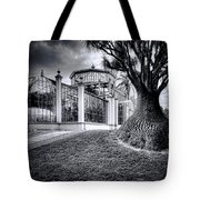 Glasshouse And Tree Tote Bag