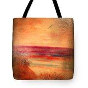 Glazed Affect Beach Scene Tote Bag