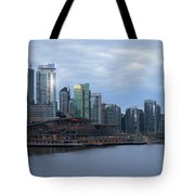 Gleaming Cityscape. Vancouver At Dawn  Tote Bag