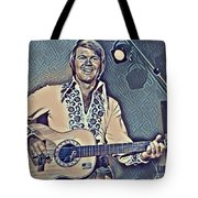 Glen Campbell Abstract Tote Bag
