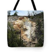 Glen Spring At Mammoth Hot Springs Upper Terraces Tote Bag