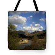 Glen Strontian And The River Strontian Sunart Western Highlands Scotland Tote Bag