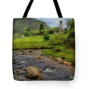 Glendalough In The Distance Tote Bag by Jeffrey Kolker
