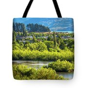 Glenorchy Lagoon At Golden Hour, New Zealand Tote Bag
