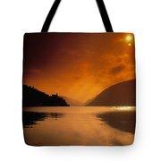 Glenveagh Castle And Lough Veagh Tote Bag