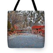 Glenwood Springs Hot Springs In Winter Tote Bag