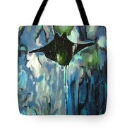 Gliding Stingray Tote Bag