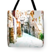 Glimpse Of Ancient Houses Tote Bag