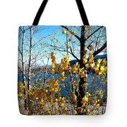 Glimpse Of Kalamalka Lake Tote Bag