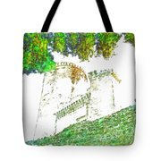 Glimpse Of The Castle Walls And Towers Tote Bag