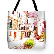 Glimpse Of The External Houses Of The Village Tote Bag