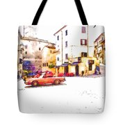 Glimpse With Cars Tote Bag