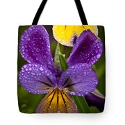 Glittered Wild Pansies Tote Bag
