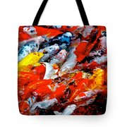 Glittering Of Koi Tote Bag