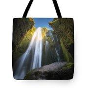 Gljufrabui Iceland Waterfall Tote Bag