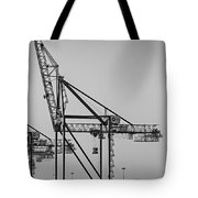 Global Containers Terminal Cargo Freight Cranes Bw Tote Bag