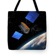 Global Positioning System Satellite In Orbit Tote Bag