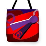 Global Time Keys Tote Bag