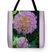 Globe Thistle Flowers Tote Bag