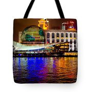 Globes On The Bund At Night Tote Bag