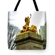 Gloden Maine Statue By Central Park New York Tote Bag