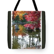 Glorious Fall Colors Reflection With Border Tote Bag