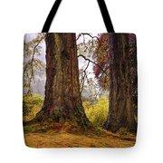 Glorious Fall In Benmore Botanical Garden. Scotland Tote Bag