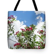 Glorious Fragrant Oleanders Reaching For The Sky Tote Bag