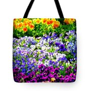 Glorious Pansies Tote Bag