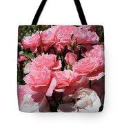 Glorious Pink Roses Tote Bag
