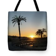 Glorious Sevillian Sunset With Palms Tote Bag