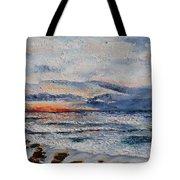 Glorious Sunset  Tote Bag by Tatjana Popovska