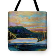 Glorious Winter Sunrise Tote Bag