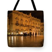 Glossy Outdoor Living Room - Syracuse Sicily Italy Tote Bag